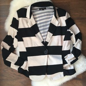 Max and Riley cream and black striped jacket